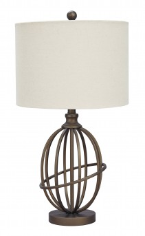 Ashley Manasa Bronze Metal Table Lamp Available Online in Dallas Fort Worth Texas