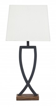 Ashley Makara Black/Brown Metal Table Lamp Available Online in Dallas Fort Worth Texas