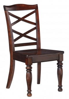 Ashley Porter Rustic Brown Side Chair Available Online in Dallas Fort Worth Texas