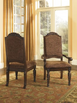 Ashley North Shore Dark Brown Arm Chair Available Online in Dallas Fort Worth Texas