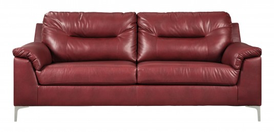 Ashley Tensas Red Sofa Available Online in Dallas Fort Worth Texas