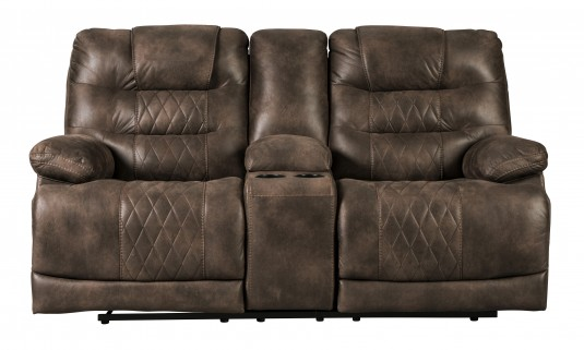 Ashley Welsford Walnut Power Loveseat Available Online in Dallas Fort Worth Texas