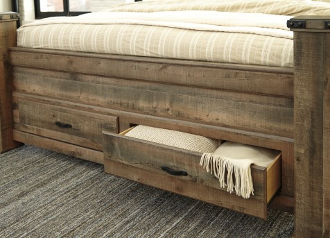 Ashley Trinell King Storage Footboard Combined Available Online in Dallas Fort Worth Texas
