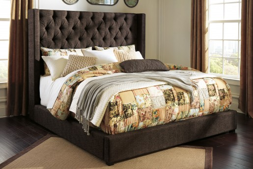 Ashley Norrister Brown Queen Footboard Combined Available Online in Dallas Fort Worth Texas