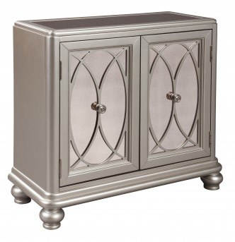 Ashley Darlyman Silver Accent Cabinet Available Online in Dallas Fort Worth Texas