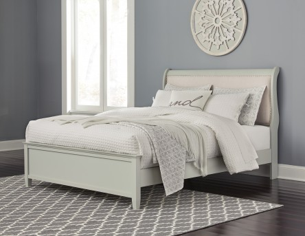 Ashley Jorstad Queen Upholstered Bed Available Online in Dallas Fort Worth Texas