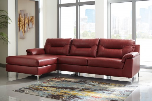 Ashley Tensas 2pc Right Arm Facing Sofa Sectional Available Online in Dallas Fort Worth Texas