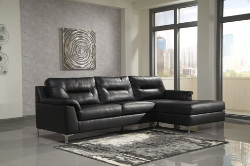 Ashley Tensas 2pc Black Left Arm Facing Sofa Sectional Available Online in Dallas Fort Worth Texas