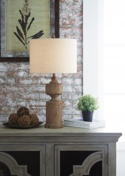 Ashley Madelief Brown Poly Table Lamp Available Online in Dallas Fort Worth Texas