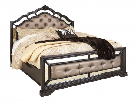 Ashley Quinshire Dark Brown Queen Panel Bed Available Online in Dallas Fort Worth Texas