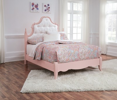 . Ashley Ladd White Pink Full Bed