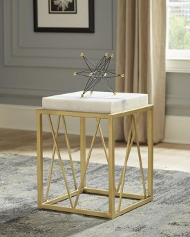 Coaster Rawhide Gold Accent Table Available Online in Dallas Fort Worth Texas