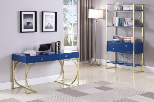 Coaster Melbou Blue Bookcase Available Online in Dallas Fort Worth Texas