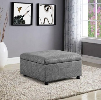 Coaster Santa Grey Ottoman Available Online in Dallas Fort Worth Texas