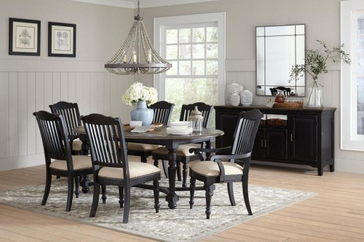 Coaster Harlingen 7pc Black Dining Room Set Available Online in Dallas Fort Worth Texas