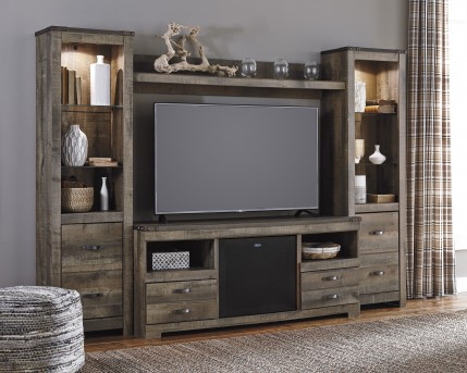 Ashley Trinell 4pc Entertainment Center Available Online in Dallas Fort Worth Texas