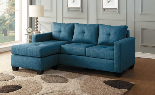 Homelegance Phelps Blue Reversable Sofa Available Online in Dallas Fort Worth Texas
