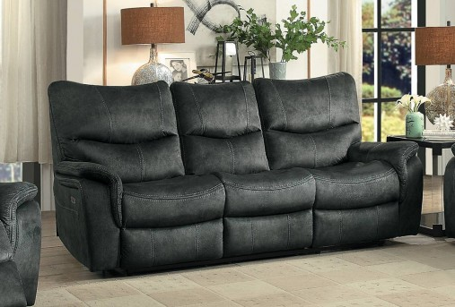 Homelegance Goby Dark Grey Power Reclining Sofa Available Online in Dallas Fort Worth Texas