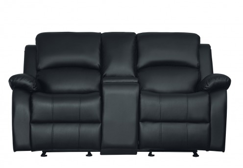 Homelegance Clarkdale Black Glider Reclining Loveseat Available Online in Dallas Fort Worth Texas