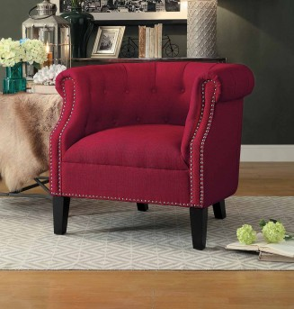 Homelegance Karlock Red Accent Chair Available Online in Dallas Fort Worth Texas