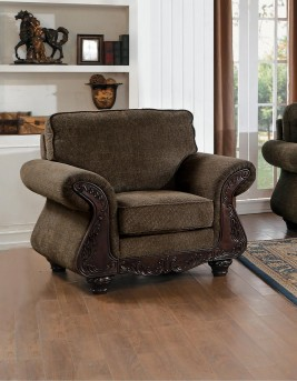 Homelegance Mandeville Brown Chair Available Online in Dallas Fort Worth Texas
