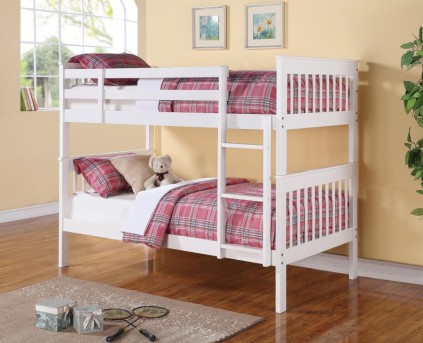 Coaster Chapman White Twin/Twin Bunk Bed Available Online in Dallas Fort Worth Texas