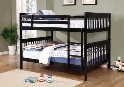 Coaster Chapman Black Full/Full Bunk Bed Available Online in Dallas Fort Worth Texas