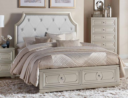 Homelegance Libretto Grey Platform Queen Bed Available Online in Dallas Fort Worth Texas