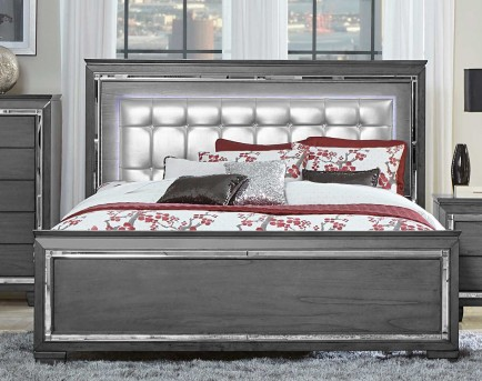 Homelegance Allura Grey Queen Bed Available Online in Dallas Fort Worth Texas