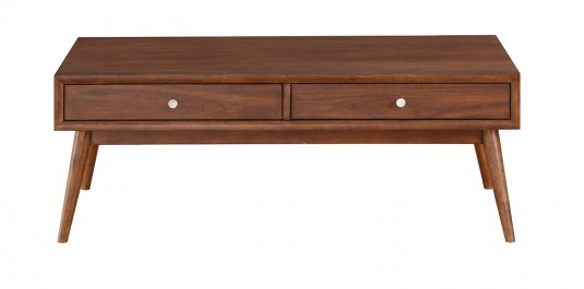 Homelegance Frolic Brown 2 Drawer Coffee Table Available Online in Dallas Fort Worth Texas