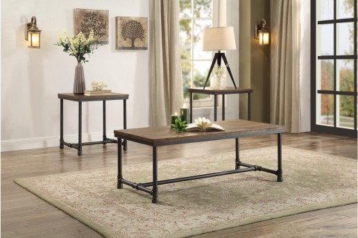 Homelegance Old Forge 3pc Coffee Table Set Available Online in Dallas Fort Worth Texas