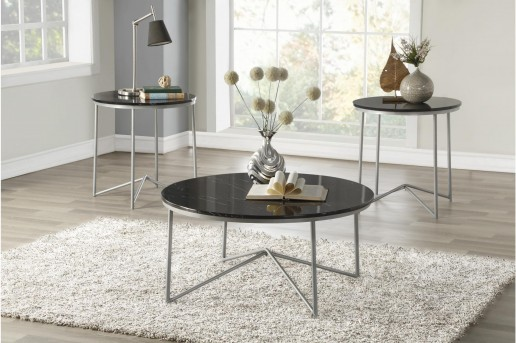 Homelegance Perivale Black 3pc Coffee Table Set Available Online in Dallas Fort Worth Texas