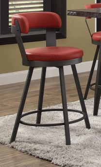 Homelegance Appert Red Swivel Pub Height Chair Available Online in Dallas Fort Worth Texas