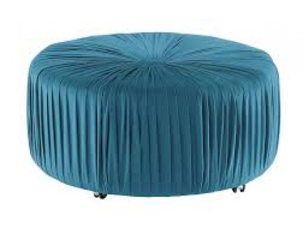 Homelegance Jaunt Blue Round Ottoman Available Online in Dallas Fort Worth Texas