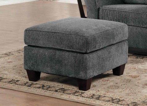 Homelegance Alain Grey Ottoman Available Online in Dallas Fort Worth Texas