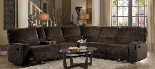 Homelegance Shreveport Brown Left Arm Facing Sectional Available Online in Dallas Fort Worth Texas