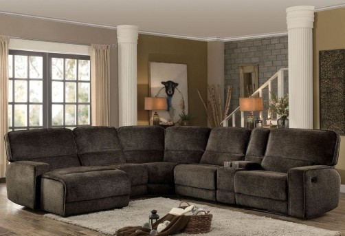 Homelegance Shreveport 6pc Left Arm Facing Chaise Sectional Available Online in Dallas Fort Worth Texas