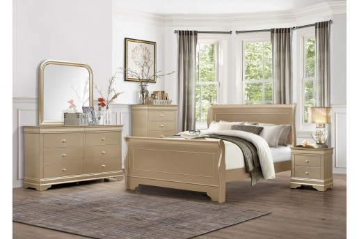 Homelegance Abbeville 5pc Gold Queen Bedroom Group Available Online in Dallas Fort Worth Texas