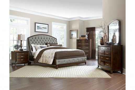 Homelegance Yorklyn 5pc Cherry Queen Bedroom Group Available Online in Dallas Fort Worth Texas