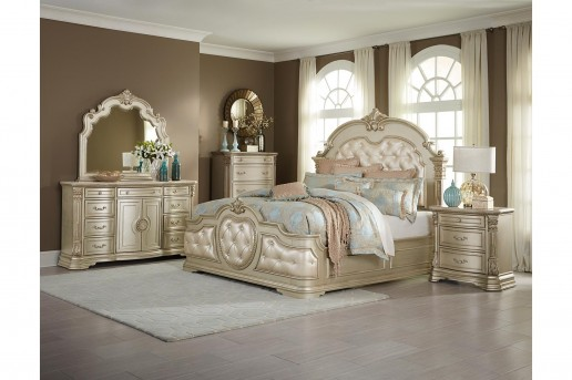 Homelegance Antoinetta 5pc Champagne King Bedroom Group Available Online in Dallas Fort Worth Texas