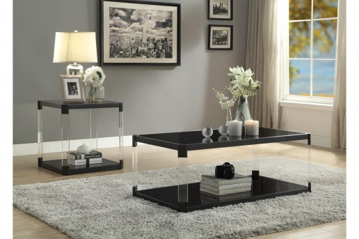 Homelegance Mehta 3pc Black Coffee Table Set Available Online in Dallas Fort Worth Texas