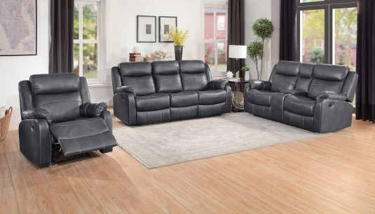 Homelegance Yerba 2pc Dark Grey Sofa & Loveseat Set Available Online in Dallas Fort Worth Texas