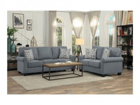 Homelegance Selkirk 2pc Grey Sofa & Loveseat Set Available Online in Dallas Fort Worth Texas