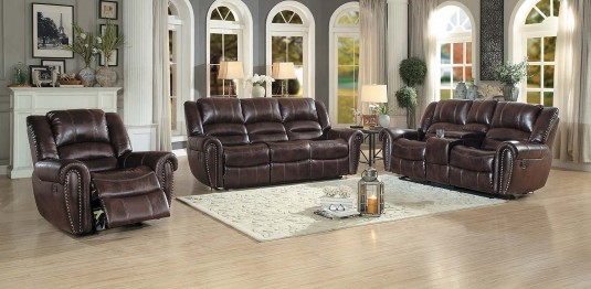 Homelegance Center Hill 2pc Dark Brown Sofa & Loveseat Set Available Online in Dallas Fort Worth Texas