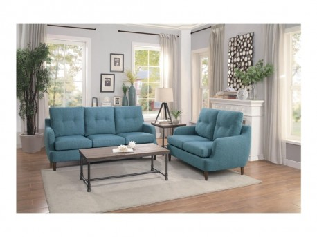 Homelegance Cagle 2pc Blue Sofa & Loveseat Set Available Online in Dallas Fort Worth Texas