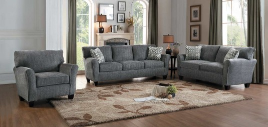 Homelegance Alain 2pc Grey Sofa & Loveseat Set Available Online in Dallas Fort Worth Texas