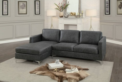 Homelegance Breaux 2pc Grey Left Side Chaise Sectional Available Online in Dallas Fort Worth Texas