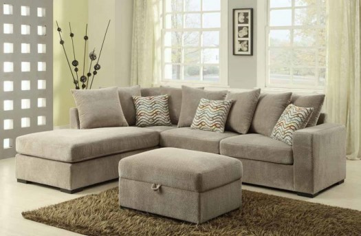 Coaster Olson Taupe Sectional Available Online in Dallas Fort Worth Texas