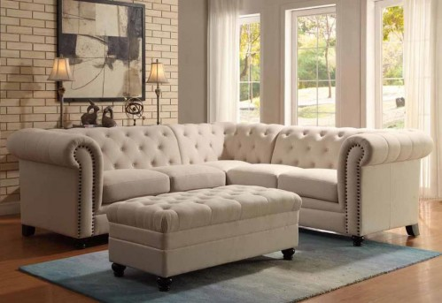 Coaster Roy Oatmeal Sectional Sofa Available Online in Dallas Fort Worth Texas