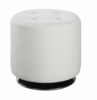 Coaster Ottomans White Circular Ottoman Available Online in Dallas Fort Worth Texas